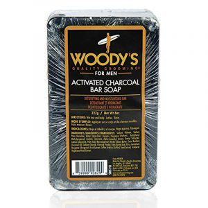 WOODY'S ACTIVETED CHARCOAL BAR SOAP – Szappan aktív szénnel