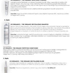 MY.ORGANICS THE  ORGANIC REVITALIZING SHAMPOO (NEEM AND PEPPERMINT) pH 5.5 – Revitalizáló sampon – VEGÁN termék