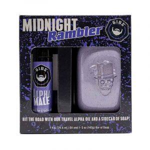 GIBS MIDNIGHT RAMBLER – Szakáll, haj és tetoválás olaj + szappan csomag